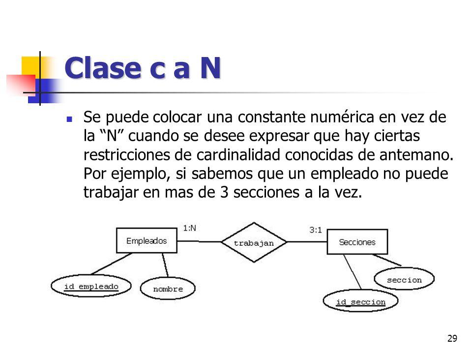 Clase c a N