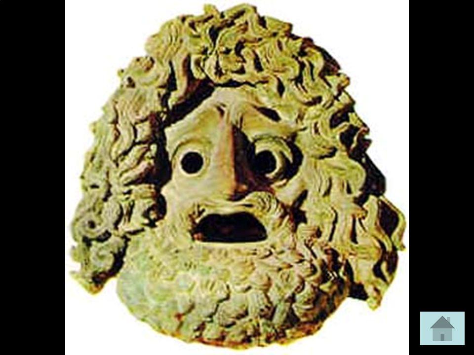 Desde los ritos dionisíacos preteatrales, los actores griegos utilizaban las máscaras o, en su defecto, ocultaban sus rostros embadurnándolos con barro o azafrán.