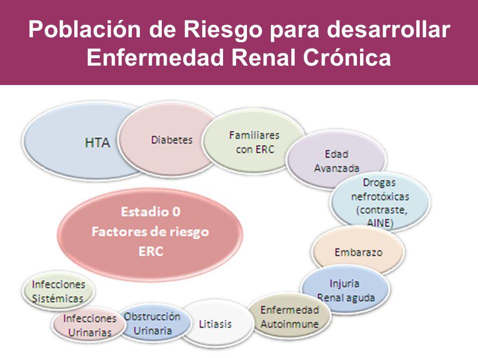 Población de Riesgo para desarrollar Enfermedad Renal Crónica