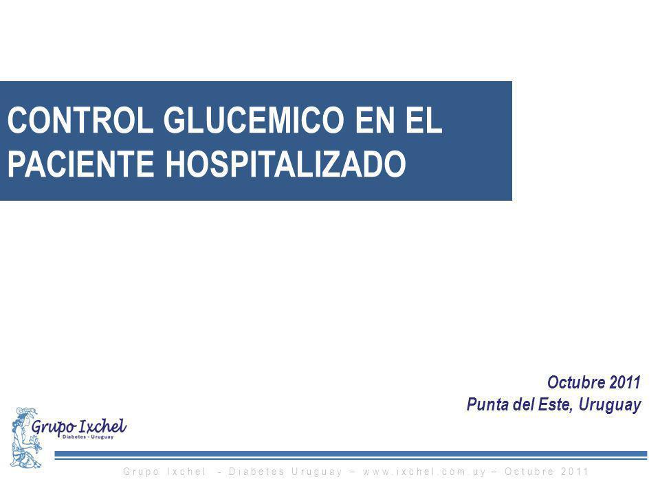 CONTROL GLUCEMICO EN EL PACIENTE HOSPITALIZADO