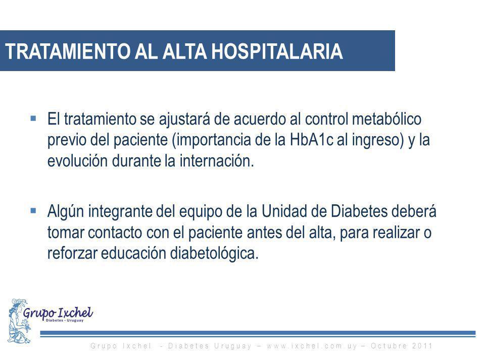 Tratamiento al alta hospitalaria