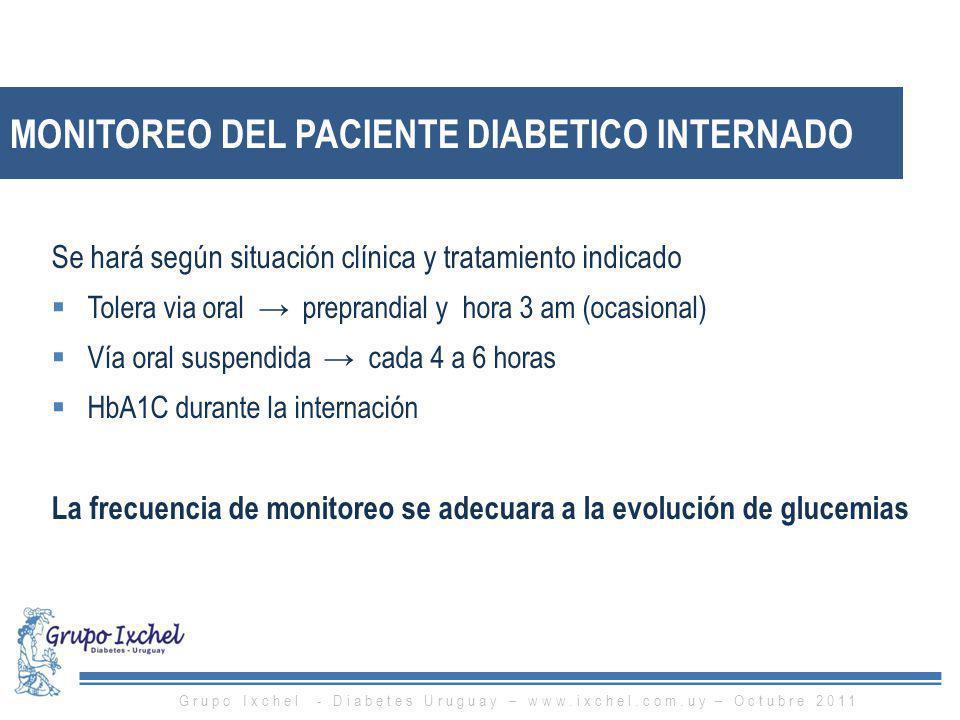 MONITOREO DEL PACIENTE DIABETICO INTERNADO