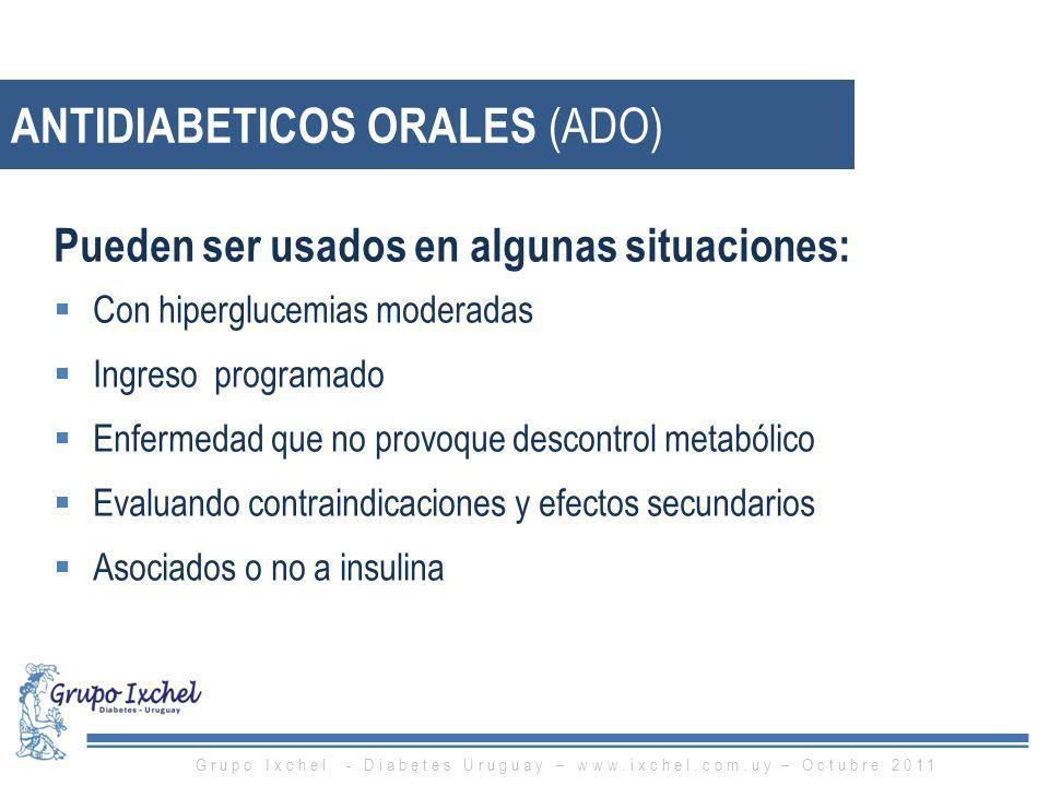 ANTIDIABETICOS ORALES (ADO)