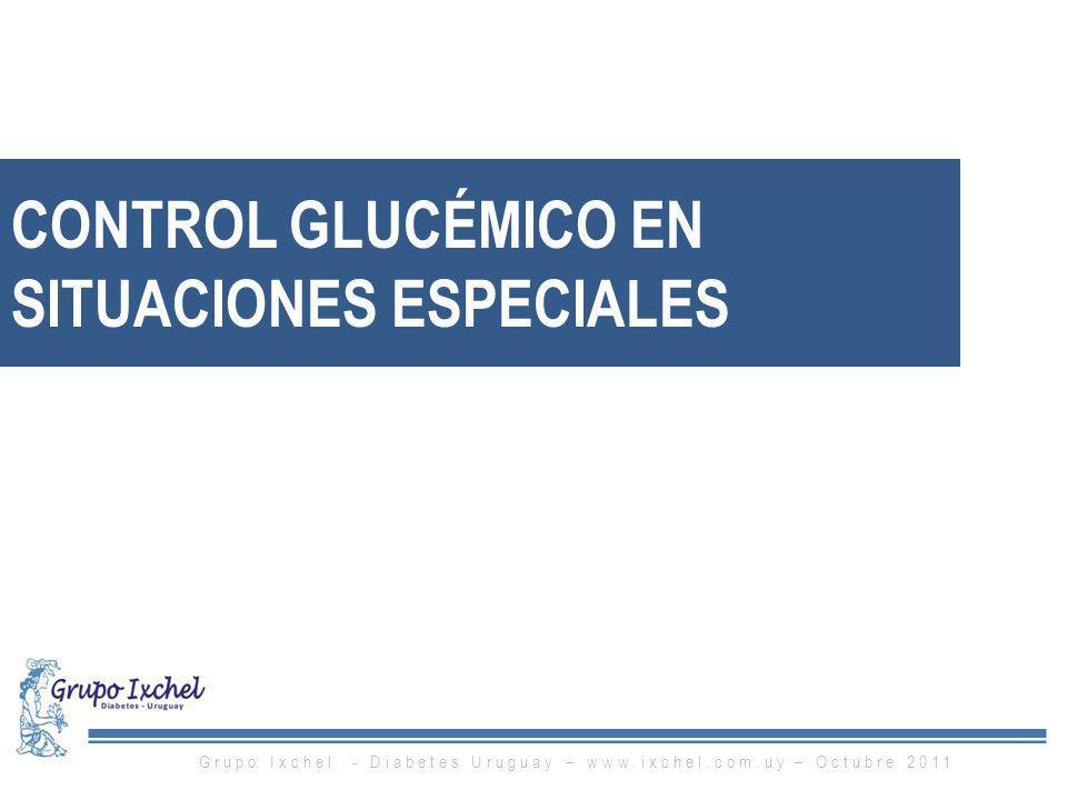 CONTROL GLUCÉMICO EN SITUACIONES ESPECIALES