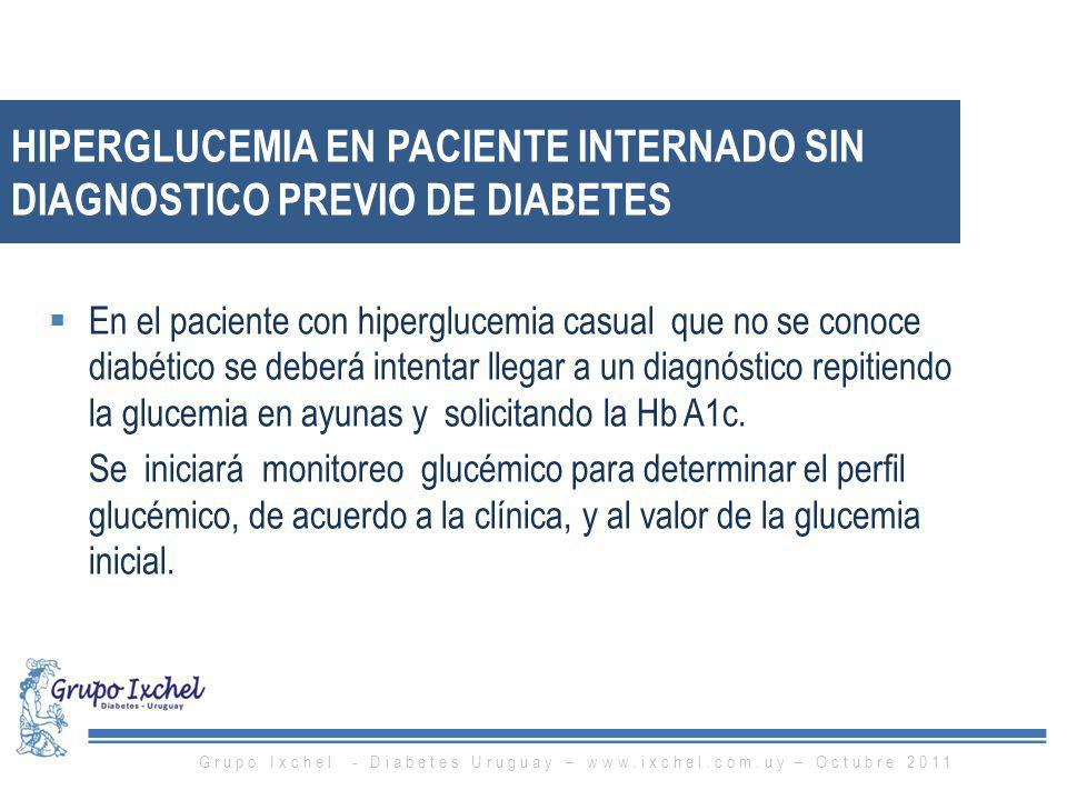 Hiperglucemia en paciente internado sin diagnostico previo de diabetes