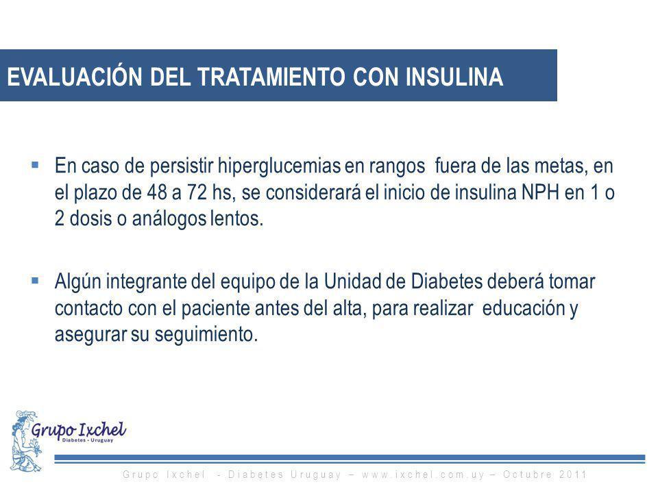 Evaluación del tratamiento con insulina