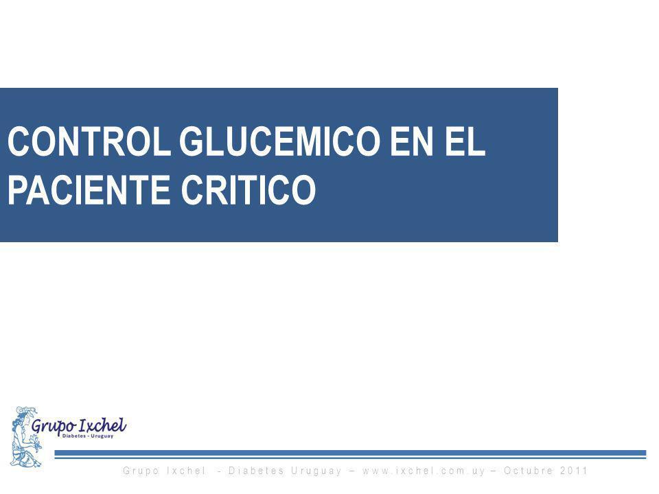 CONTROL GLUCEMICO EN EL PACIENTE CRITICO