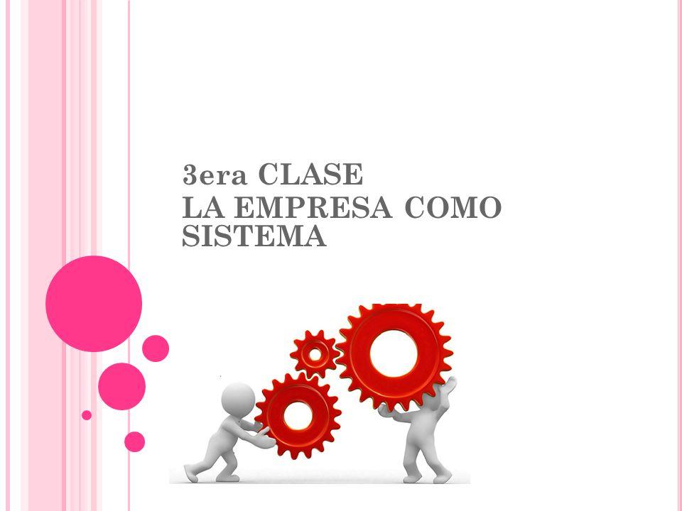 3era CLASE LA EMPRESA COMO SISTEMA