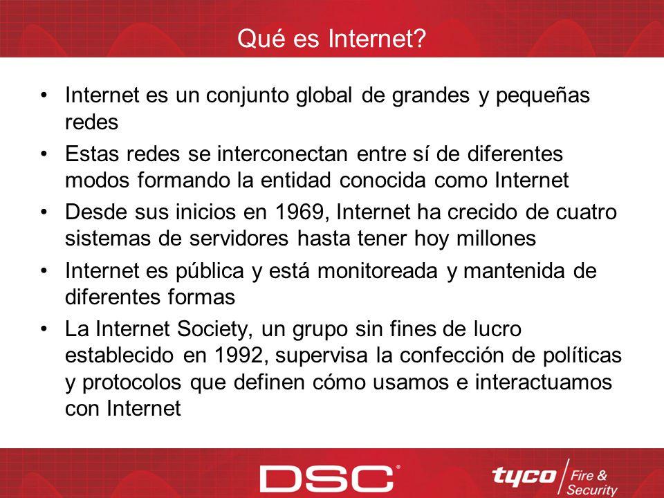 Qué es Internet Internet es un conjunto global de grandes y pequeñas redes.