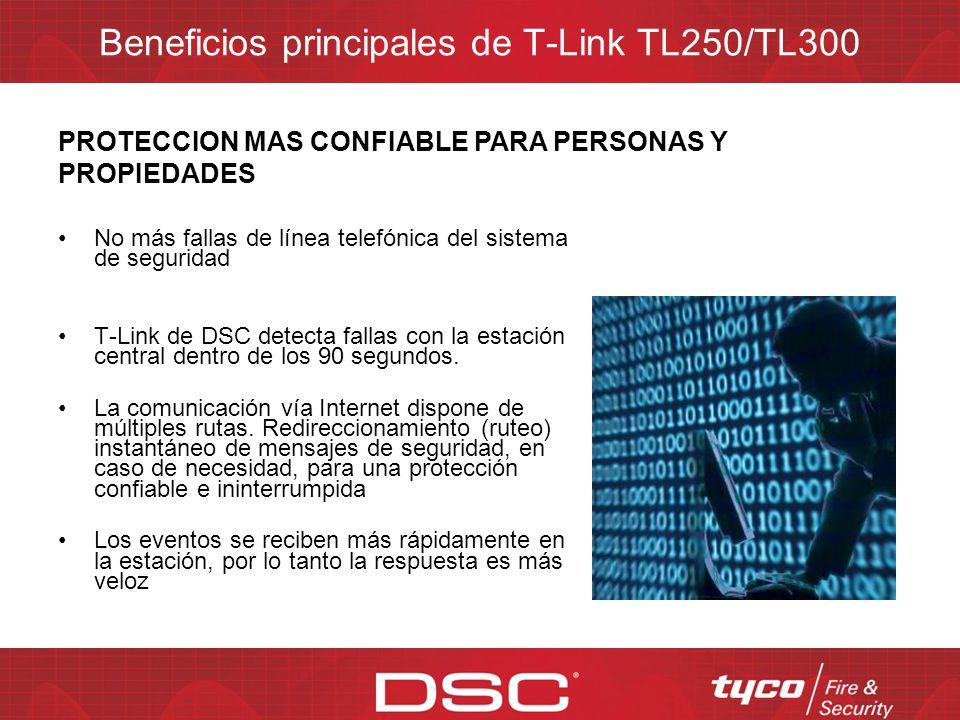 Beneficios principales de T-Link TL250/TL300