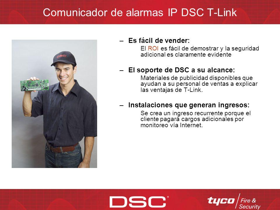 Comunicador de alarmas IP DSC T-Link