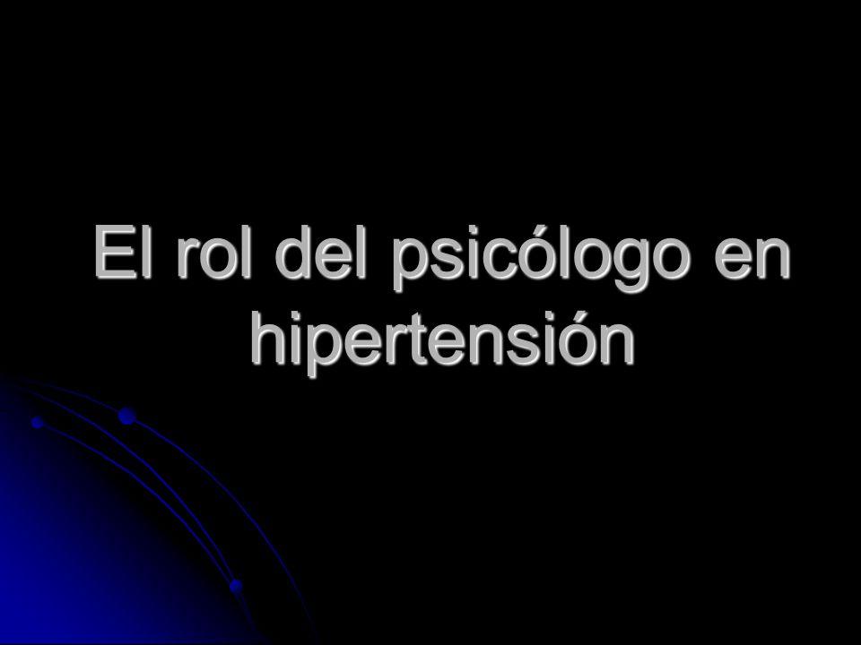El rol del psicólogo en hipertensión