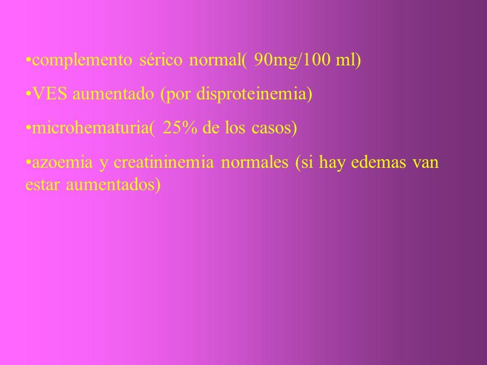 complemento sérico normal( 90mg/100 ml)
