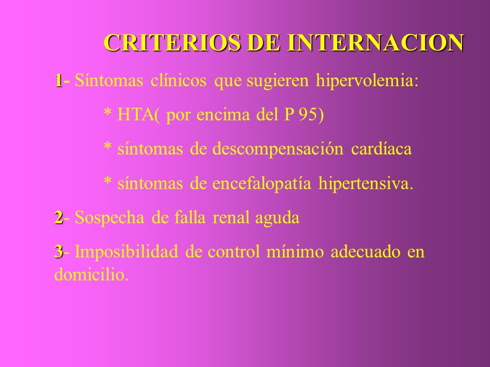 CRITERIOS DE INTERNACION