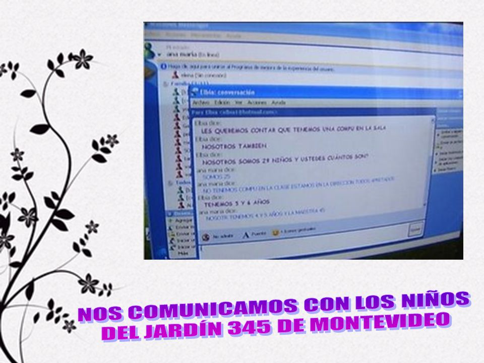 NOS COMUNICAMOS CON LOS NIÑOS DEL JARDÍN 345 DE MONTEVIDEO