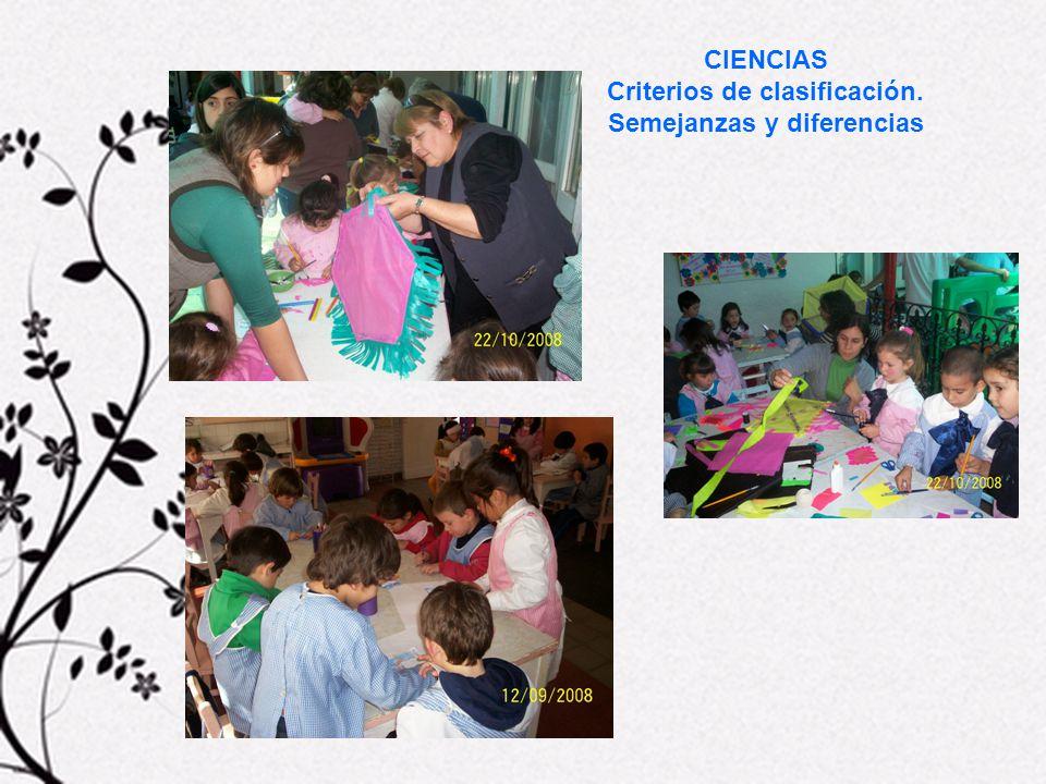 Criterios de clasificación. Semejanzas y diferencias