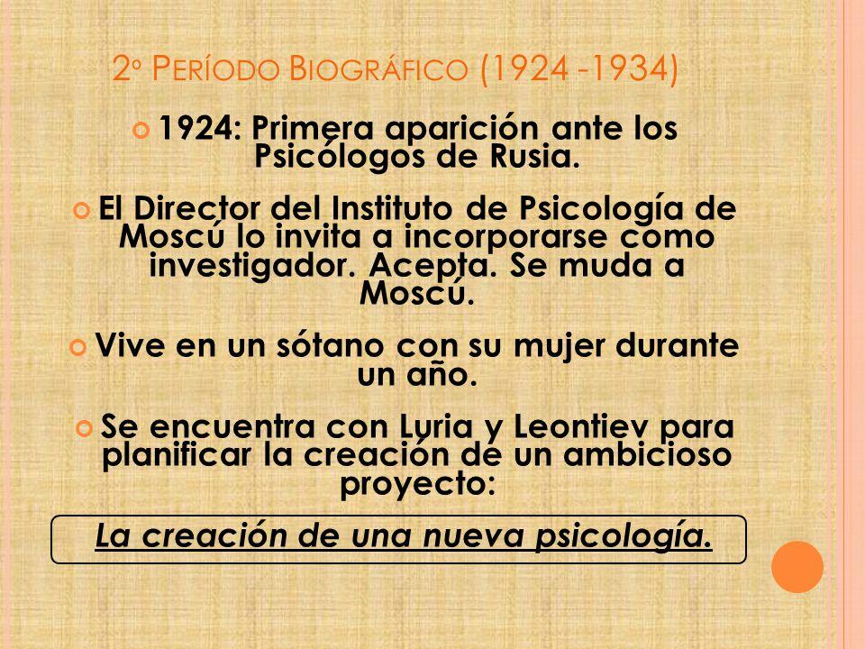 2º Período Biográfico (1924 -1934)