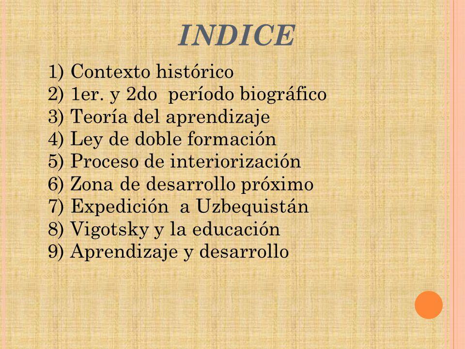 INDICE 1) Contexto histórico 2) 1er. y 2do período biográfico