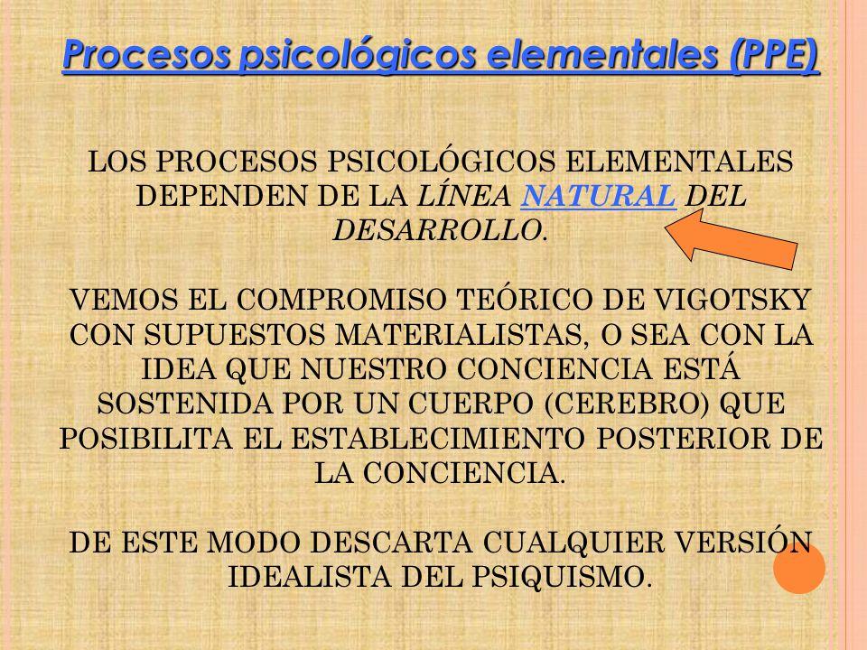 Procesos psicológicos elementales (PPE)
