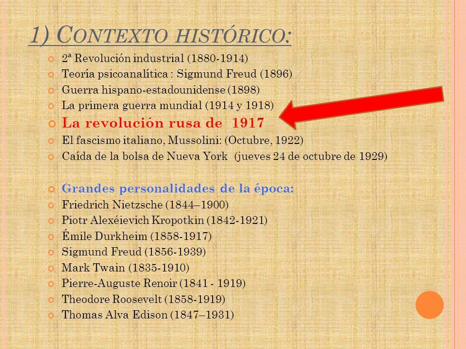 1) Contexto histórico: La revolución rusa de 1917