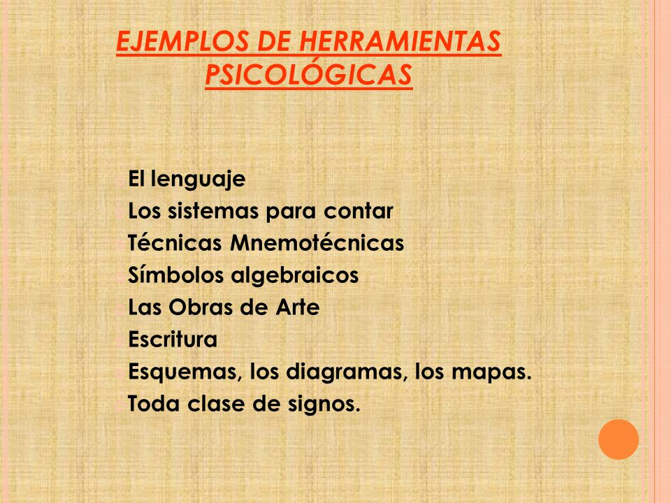 EJEMPLOS DE HERRAMIENTAS PSICOLÓGICAS