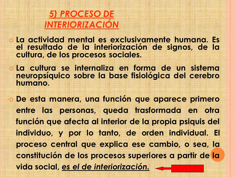 5) PROCESO DE INTERIORIZACIÓN