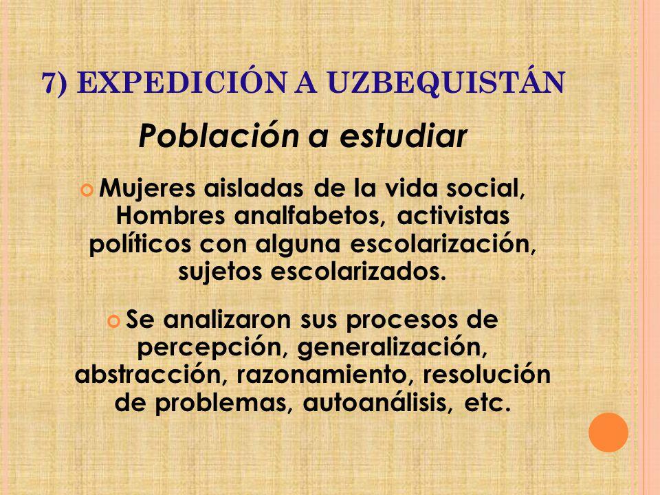 7) EXPEDICIÓN A UZBEQUISTÁN