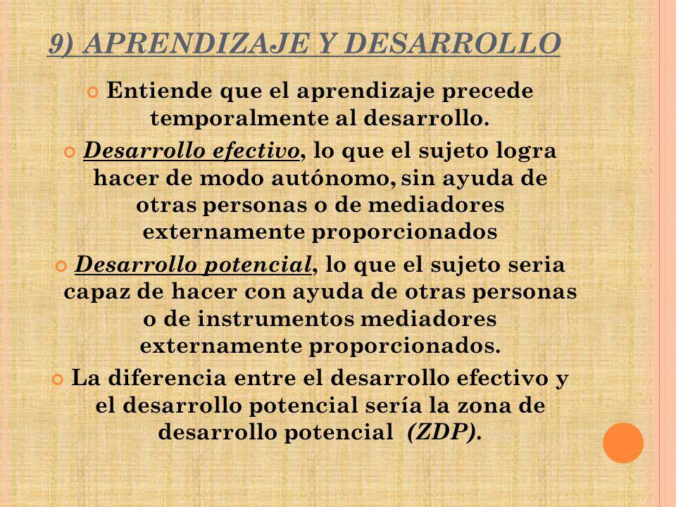 9) APRENDIZAJE Y DESARROLLO