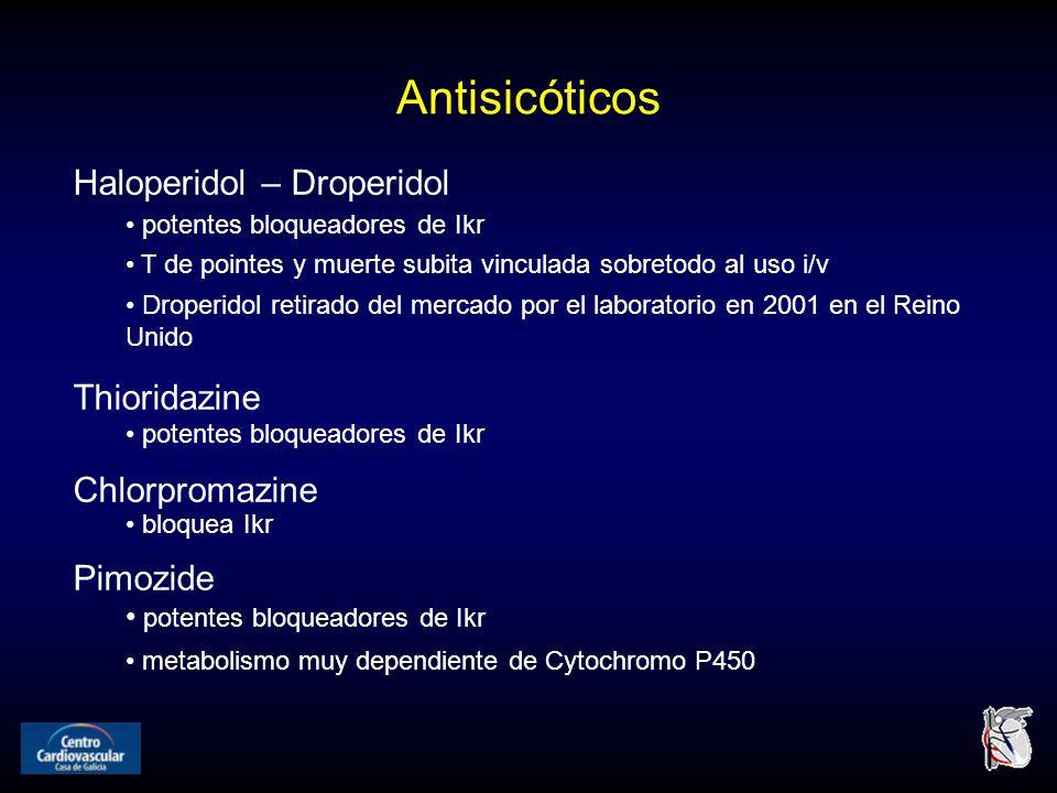 Antisicóticos Haloperidol – Droperidol Thioridazine Chlorpromazine