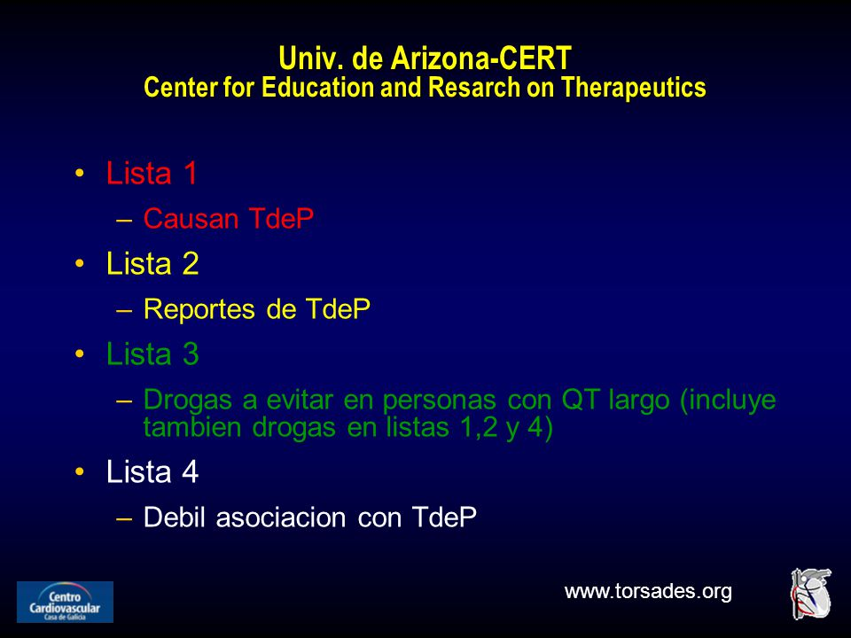 Univ. de Arizona-CERT Center for Education and Resarch on Therapeutics