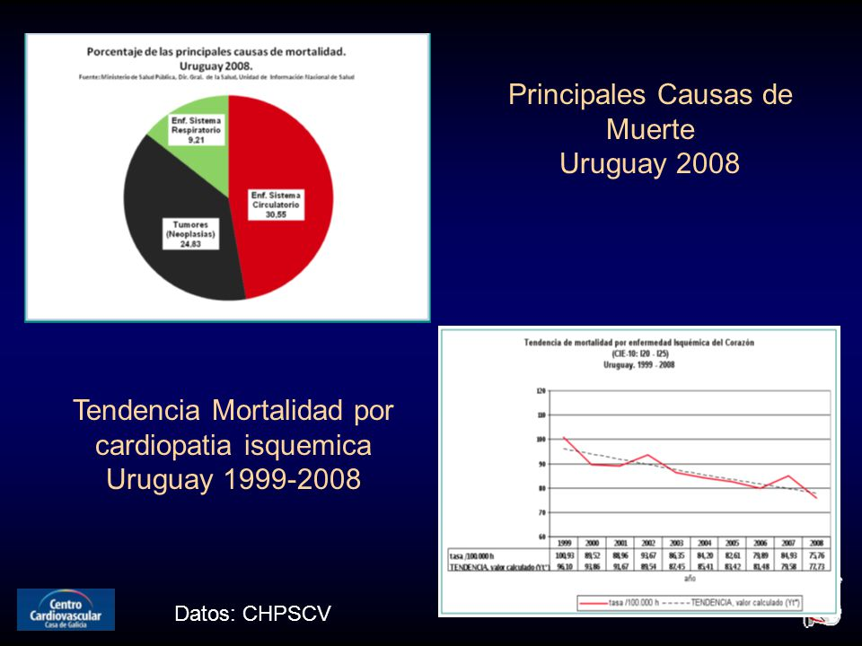 Principales Causas de Muerte Uruguay 2008