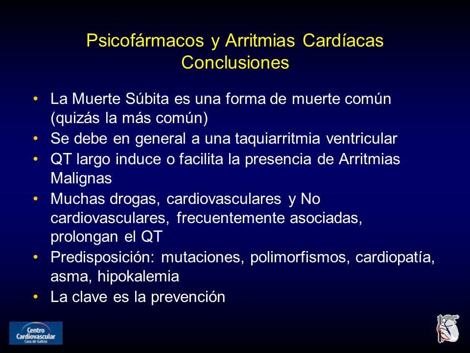 Psicofármacos y Arritmias Cardíacas Conclusiones