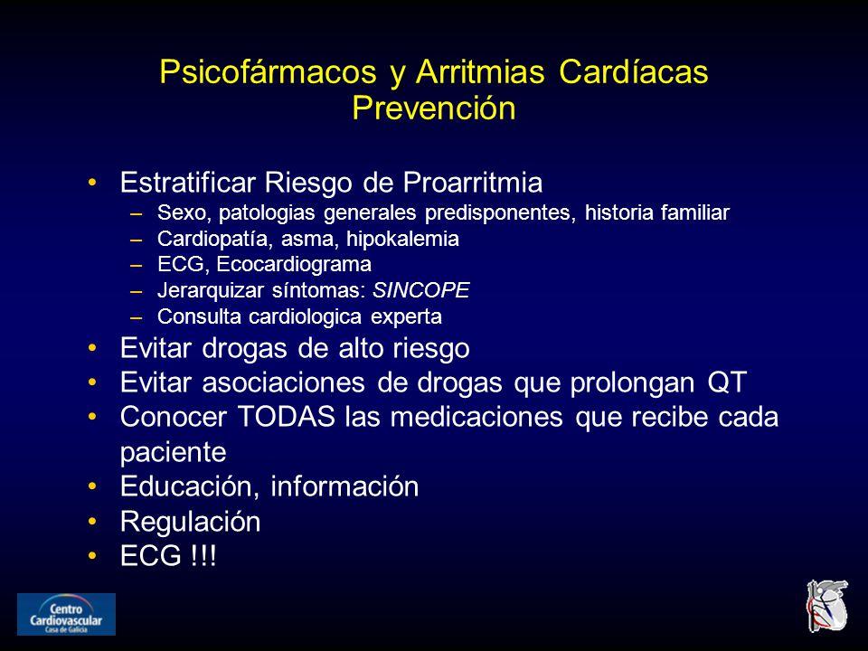 Psicofármacos y Arritmias Cardíacas Prevención