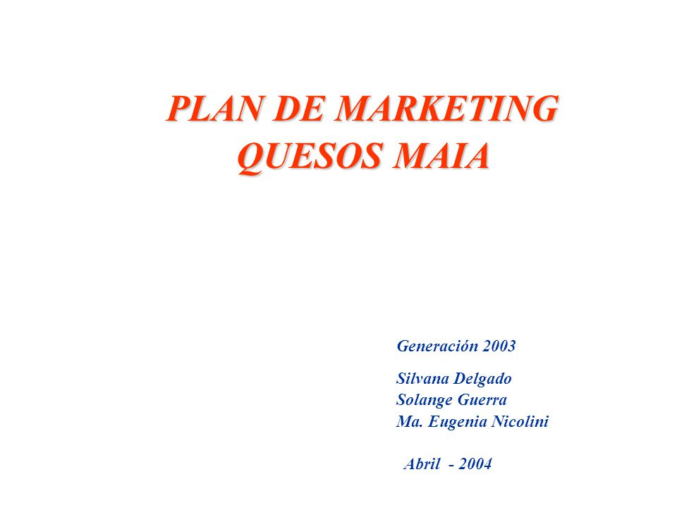 PLAN DE MARKETING QUESOS MAIA