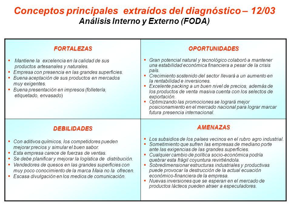 Conceptos principales extraídos del diagnóstico – 12/03
