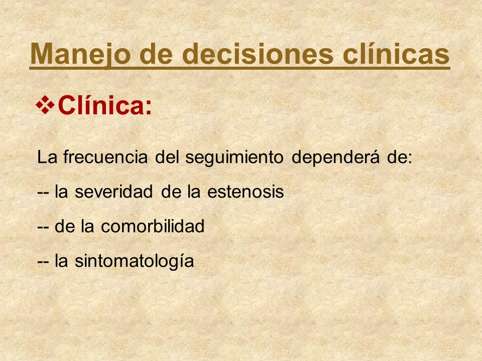 Manejo de decisiones clínicas