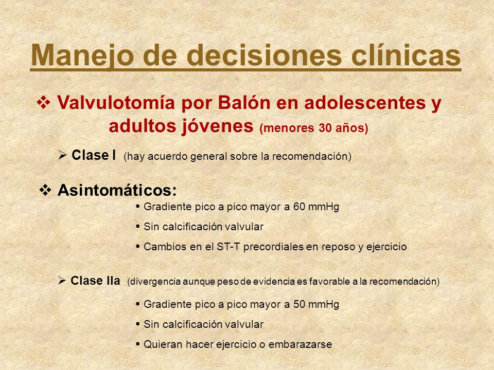 Manejo de decisiones clínicas