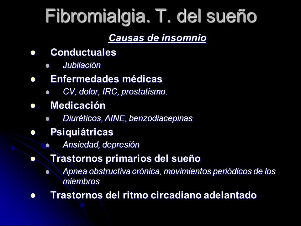 Fibromialgia. T. del sueño