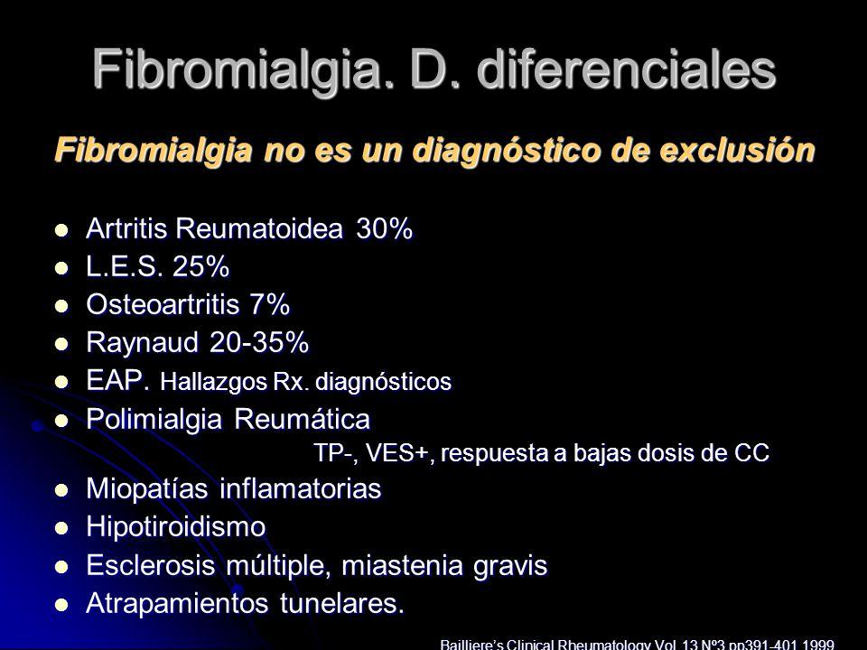 Fibromialgia. D. diferenciales