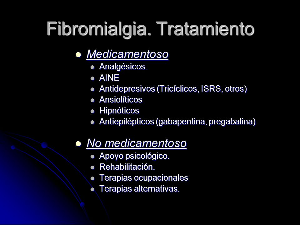 Fibromialgia. Tratamiento