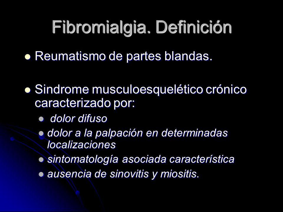 Fibromialgia. Definición