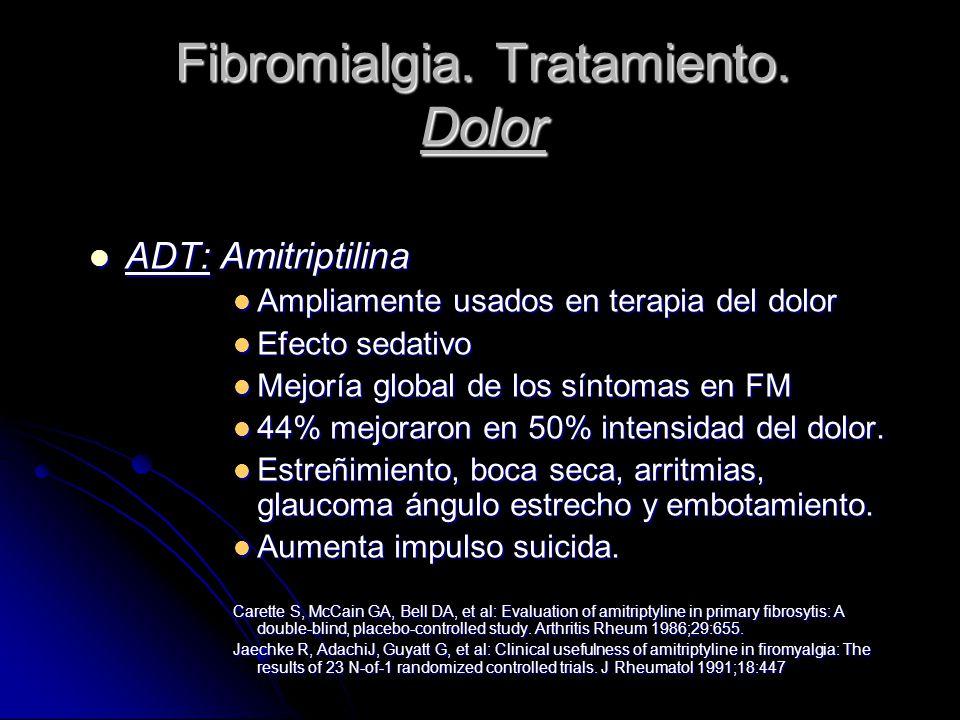 Fibromialgia. Tratamiento. Dolor
