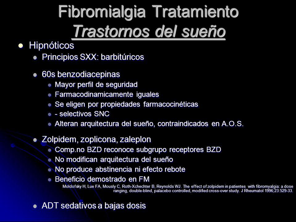 Fibromialgia Tratamiento Trastornos del sueño