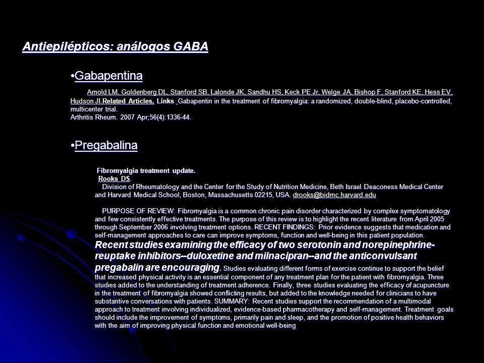 Antiepilépticos: análogos GABA Gabapentina