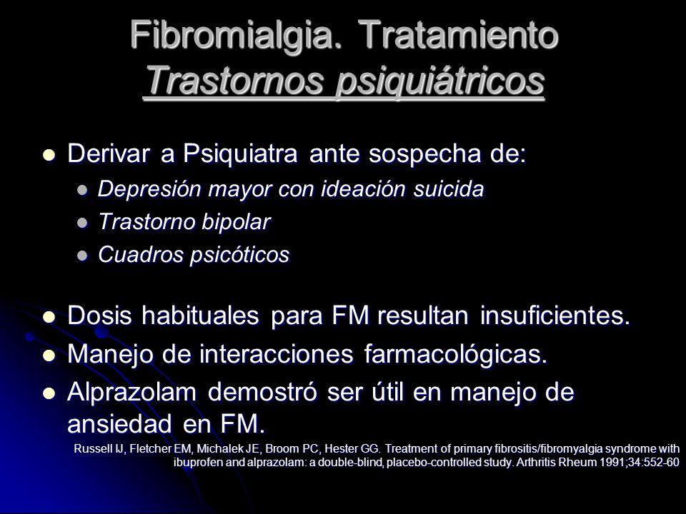 Fibromialgia. Tratamiento Trastornos psiquiátricos