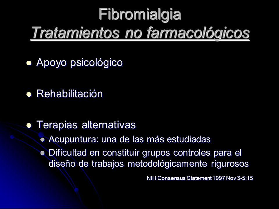 Fibromialgia Tratamientos no farmacológicos