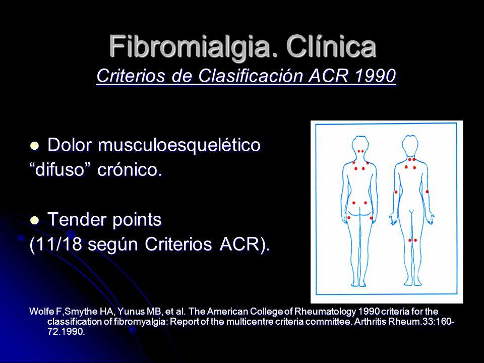 Criterios de Clasificación ACR 1990