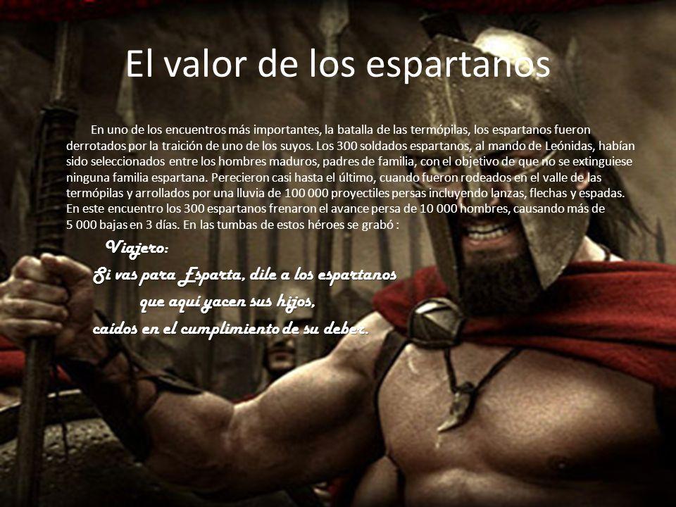El valor de los espartanos