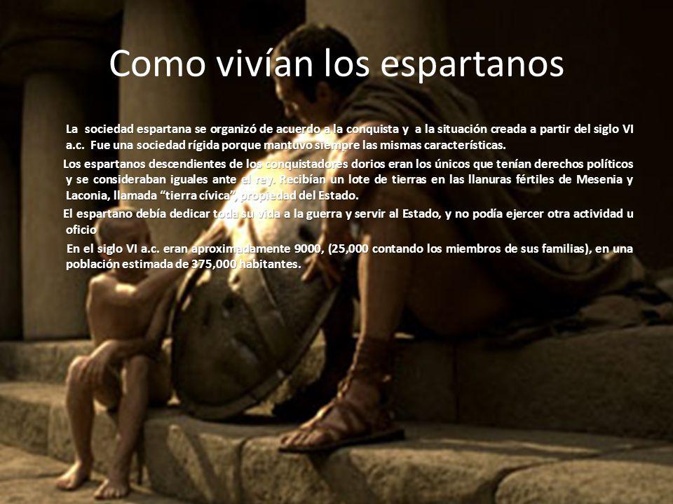 Como vivían los espartanos