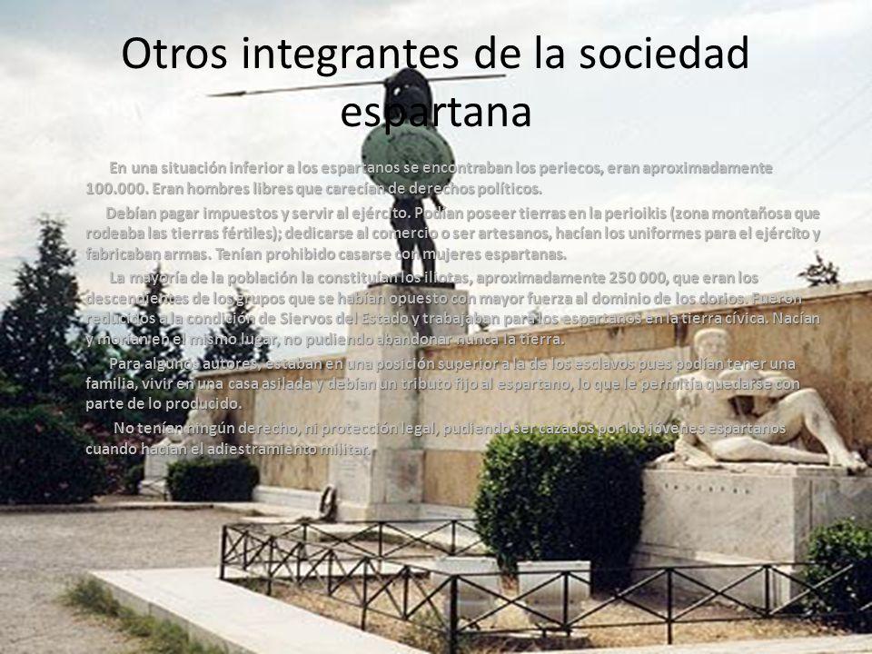 Otros integrantes de la sociedad espartana